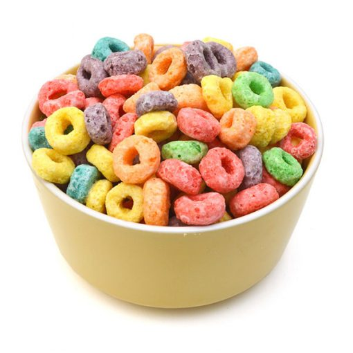 Fruity rings cereal food flavour