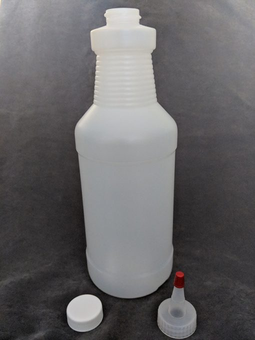 1 Litre HDPE Bottle with Cap and Yorker Vape E-Juice