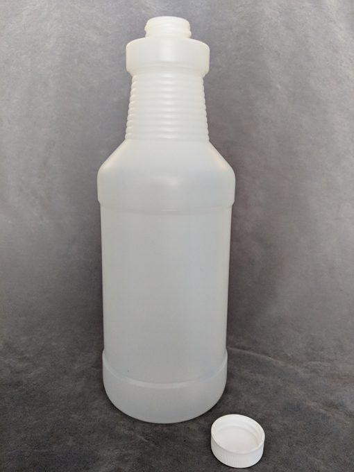 Natural HDPE Cylinder bottle - 1 Litre