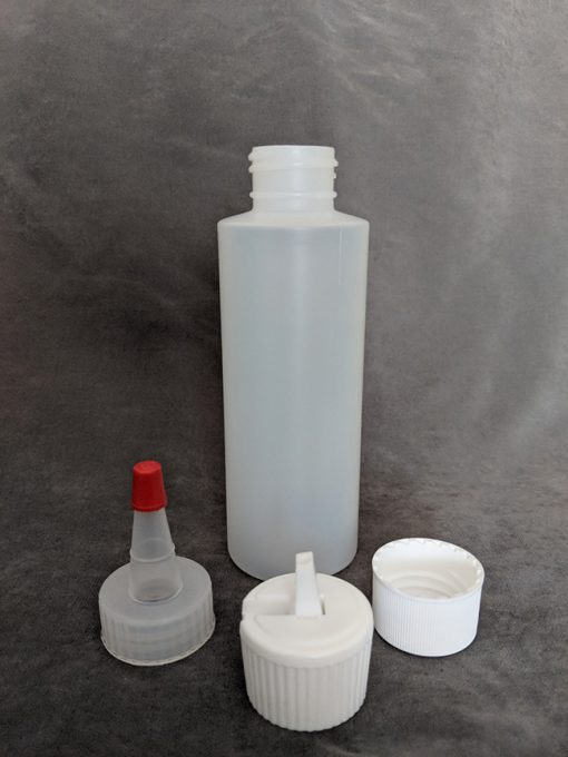 120ml HDPE Bottle with cap, Yorker and Flip-Top Vape E-Juice