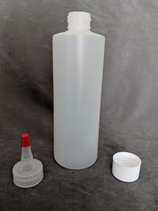 250ml HDPE Bottle with Cap and Yorker Vape E-Juice