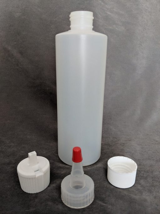 250ml HDPE Bottle with Cap, Yorker and Flip-Top Vape E-Juice
